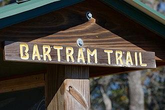 Bartram Trail - Sign on Wayah Bald, North Carolina