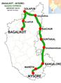 Basava Express (Bagalkot - Mysore) Route map.png