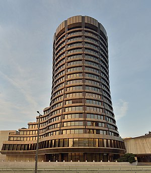 Bank for International Settlements - BIS main building in Basel, Switzerland