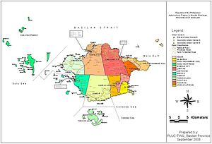 Political Map of Basilan Province, Philippines...