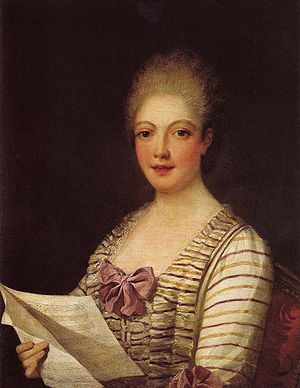Lucrezia Aguiari - Lucrezia Agujari (La Bastardella), attributed to Pietro Melchiorre Ferrari.