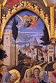 Beato angelico, pala strozzi della deposizione, con cuspidi e predella di lorenzo monaco, 03.JPG
