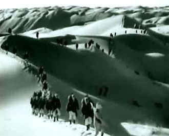 Beau Ideal - French Foreign Legion marching through the desert