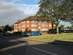 Beaufort Park. Apartment blocks in a small estate on the south side of the North Circular road