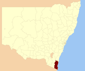 Bega Valley Shire - Location in New South Wales