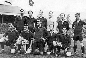 Football at the 1920 Summer Olympics - Hosts and tournament winners Belgium before the final.