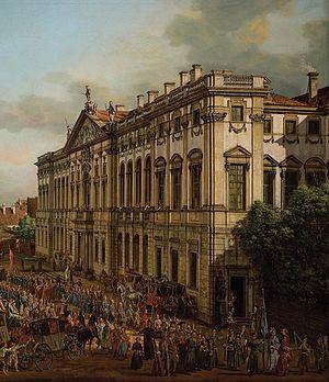 Krasiński Palace - Krasiński Palace, 1770. Painting by Bernardo Bellotto.