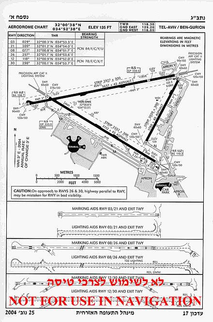 Схема аэропорта, 2004 г.