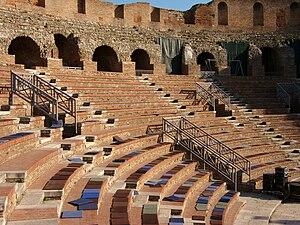 Roman Theatre, Benevento - View of the interior.