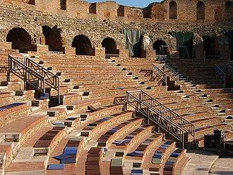 Benevento - View of the Roman Theatre of Benevento.