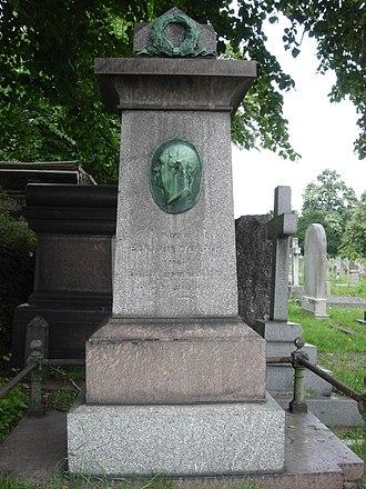 Benjamin Nottingham Webster - Funerary monument, Brompton Cemetery, London