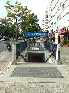 Güntzelstraße (Berlin U-Bahn) Station of the Berlin U-Bahn