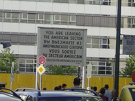 A You Are Leaving sign at a border of the American sector Berlin - You are leaving.jpg