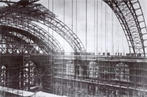 Berlin Anhalter Bahnhof - Anhalter Bahnhof - the new train shed roof takes shape c. 1878