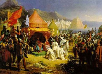 Count Bertrand in front of Tripoli (painting by Charles Alexandre Debacq, 19th century)