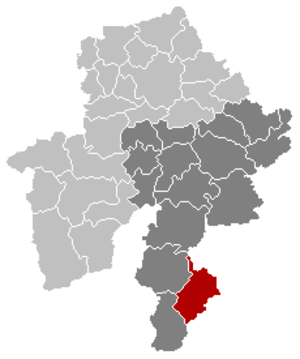 Bièvre, Belgium - Image: Bièvre Namur Belgium Map