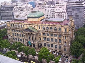 History of the book in Brazil - Biblioteca Nacional, situated in Rio de Janeiro, the depository of the bibliographic and document-based heritage of Brazil.