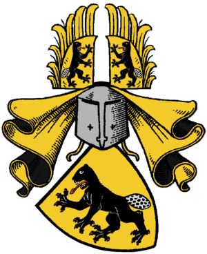 Bibra family - Bibra coat of arms, gothic style