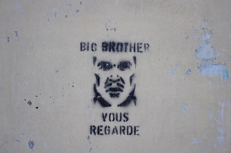 Big Brother graffiti in La Ferté-sous-Jouarre (Seine-et-Marne, France).