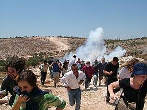 Bil'in - A 2005 protest in Bil'in