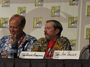 Bill Fagerbakke - Bill Fagerbakke with fellow SpongeBob SquarePants voice actor Rodger Bumpass (the voice of Squidward)
