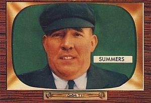 Bill Summers (umpire) - Bill Summers' 1955 baseball card