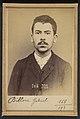 Billon. Gabriel, André, Adolphe. 20 ans, né à Boulogne -s-Seine. Typographe. Outrages. 14-8-93. MET DP290177.jpg