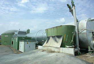 Biogas - Pipes carrying biogas (foreground), natural gas and condensate
