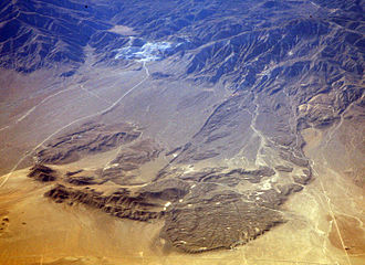 Lucerne Valley, California - Aerial view of the Blackhawk Landslide.
