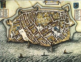 Harderwijk - Image: Blaeu 1652 Harderwijk