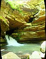 Blanchard Springs Caverns by D.L.H. - 96°F outside but 58°F air rushing out of the cavern makes this natures little air conditioner. I would hold off on swimming in the water though. 500,000 plus bats regularly m - panoramio.jpg
