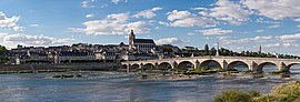 Panoramic view o Blois on the Loire River