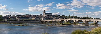 Blois - Panoramic view of Blois on the Loire River