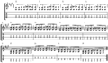 Blues in A wth sevenths for guitar (open string root notes).png