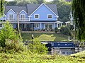Boats moored at the new lodges near Wansford - August 2013 - panoramio.jpg