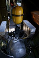 Boeing B-17G-85-DL Flying Fortress Nine-O-Nine Interior Ball Turret tall CFatKAM 09Feb2011 (14797260200).jpg