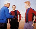 Bologna FC - 1960s - Manager Bernardini with Nielsen and Haller.jpg