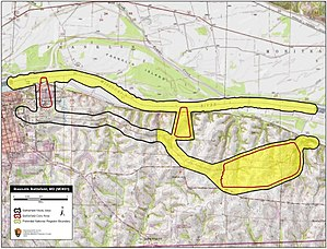 Battle of Boonville - Map of Boonville Battlefield core and study areas by the American Battlefield Protection Program.
