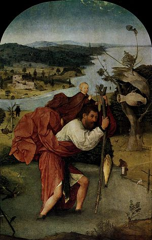 Saint Christopher Carrying the Christ Child - Image: Bosch Saint Chrisopher Carrying The Christ Child