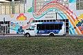 Boston Children's Hospital Shuttle at Ruggles Station, March 2020.jpg