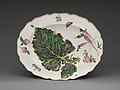 Botanical oval platter with turnip leaf MET DP-1687-041.jpg