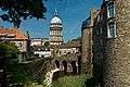 Boulogne-sur-Mer - Ville Haute - Rampart of Fortifications - View NW on Basilica of Notre-Dame de Boulogne & Le Château Comtal.jpg