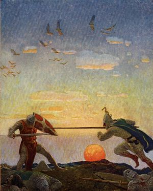 Conflict (narrative) - Image: Boys King Arthur N. C. Wyeth p 306