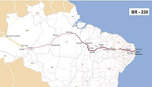 Trans-Amazonian Highway - Image: Br 230mapa