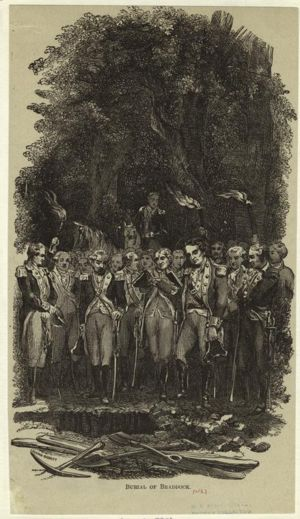 General Braddock's burial near Great Meadows, Pennsylvania