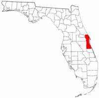 佛罗里达州布里瓦德县地图