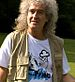 English: Brian May of Queen filming for the BB...