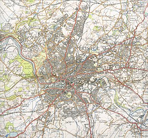 Bristol - A 1946 map of Bristol