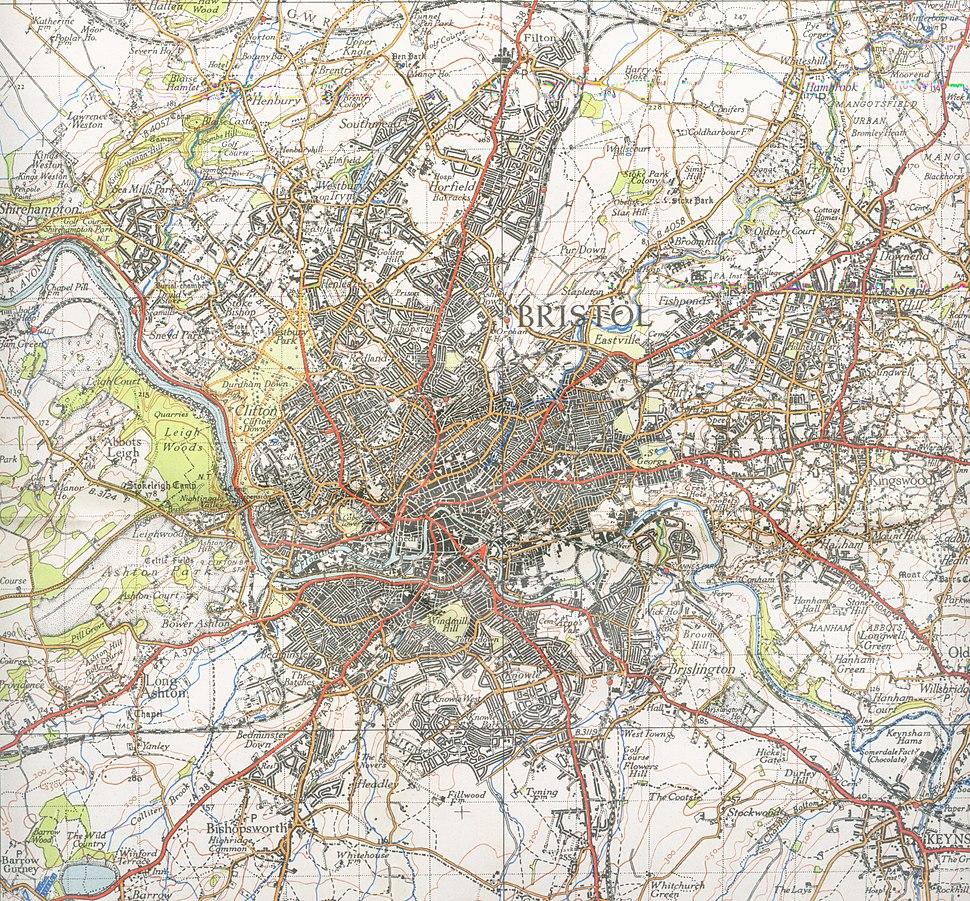 Bristol map 1946
