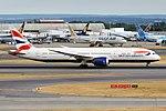 British Airways, G-ZBKD, Boeing 787-9 Dreamliner (30536909498).jpg